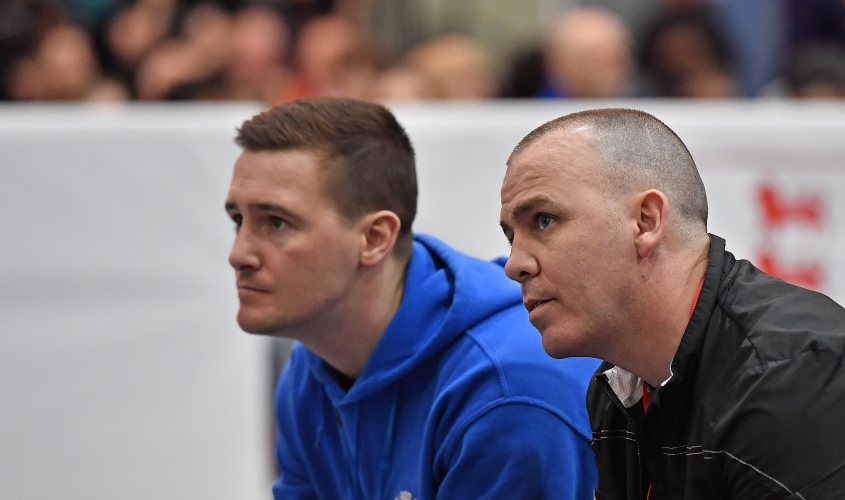 Coaches at ringside