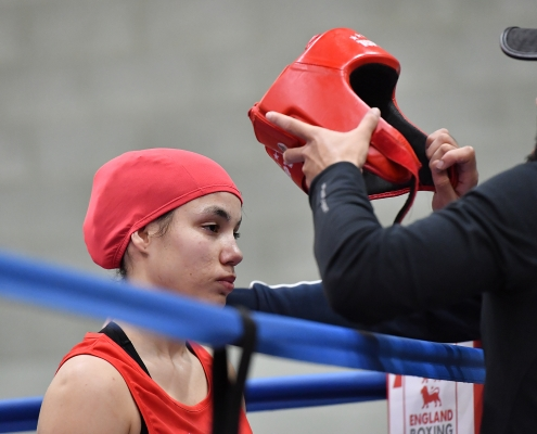 Headguards must be worn in all England Boxing Female bouts