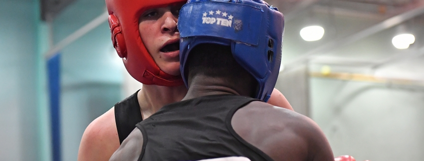 Boxers showing mutual respect