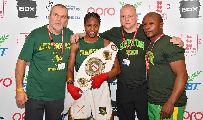 Caroline Dubois at the England Boxing National Youth Championships 2019