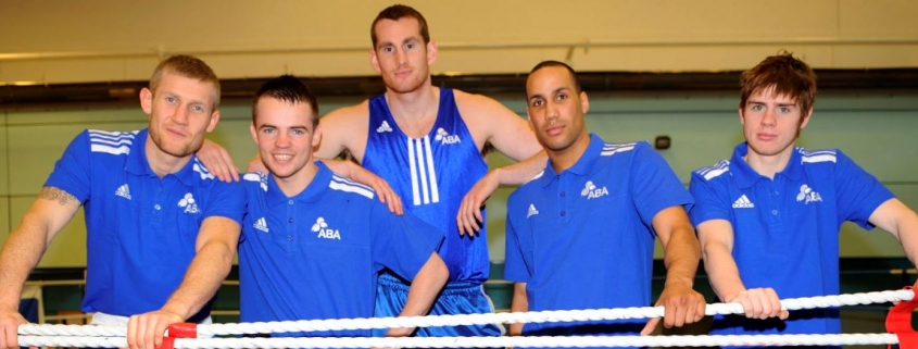 England Boxers including Frankie Gavin, James DeGale and David Price