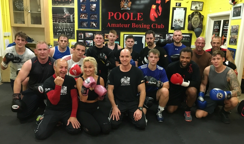 Kate Farley with fellow Poole ABC members
