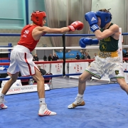 Cameron Paul (Pinewood red) v Dennis McCann (Repton green) cropped