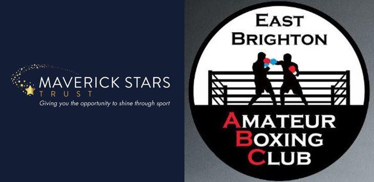 Maverick Stars Trust and East Brighton ABC badges